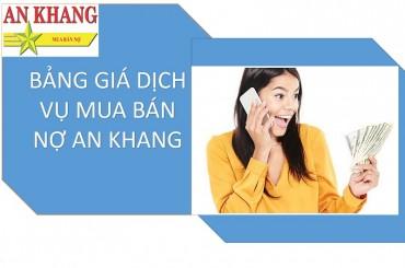 Bảng Giá Dịch Vụ Mua Bán Nợ